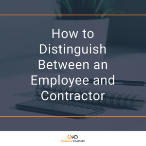 How to Distinguish Between an Employee and Contractor
